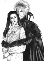 Jareth + Sarah from Labyrinth by EsheMilana