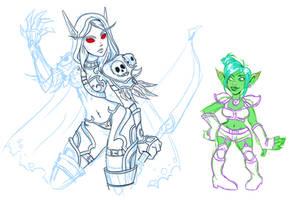 Warcraft Ladies by GlamourKat