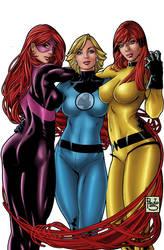 marvel girls by jeanx13
