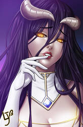 Albedo from Overlord by jeanx13