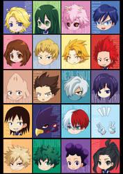 My Hero Academia Class 1-A by jeanx13