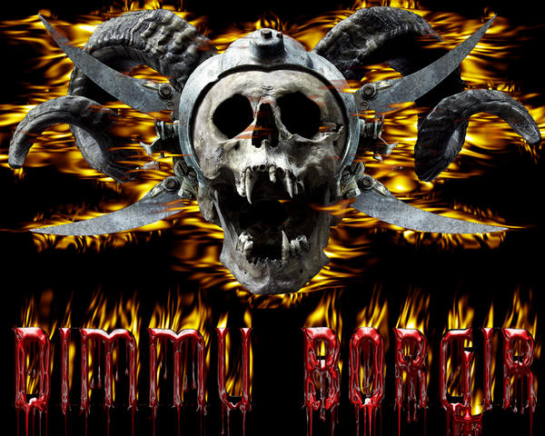 Dimmu Borgir Fire Skull 1280 x 1024 Wallpaper