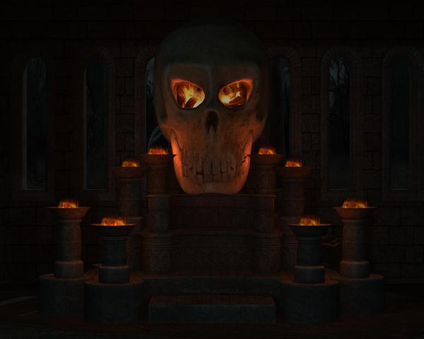 Hell Skull 2 1280 x 1024