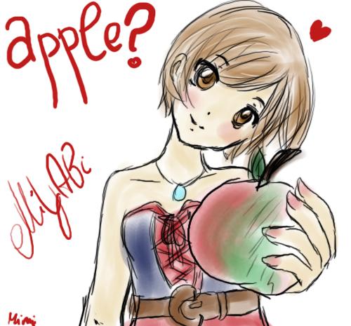 Natsuyaki Miyabi- apple? by mmmCockimmm