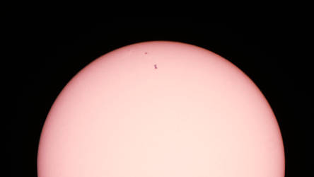 ISS transit over the sun