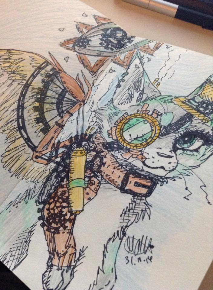 Steam meow colored - My sketchbook