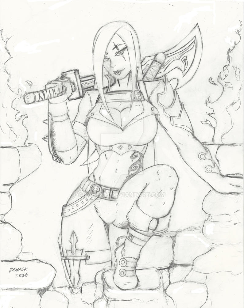 Katarina League of Legends  Pencils by Bfetish