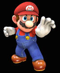 Mario is blocking with his hand render