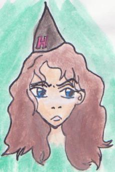 Hermione Angry Watercolor by BielinFarmland