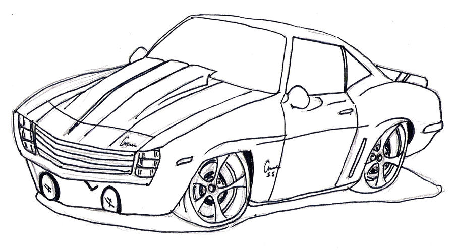 1969 camaro ss colouring pages