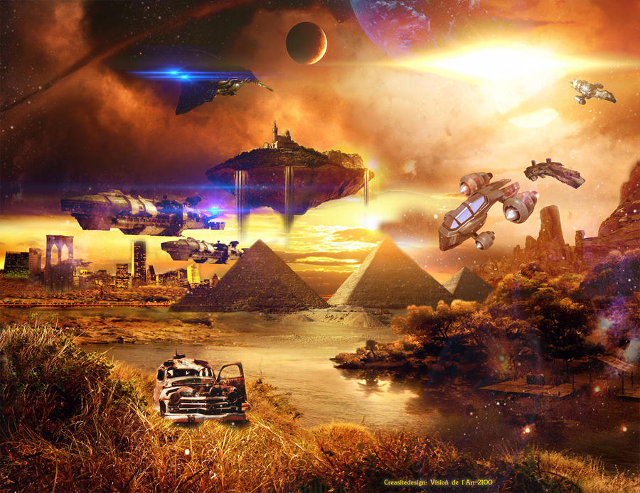 Year 2100 futur year 2100 by cre...