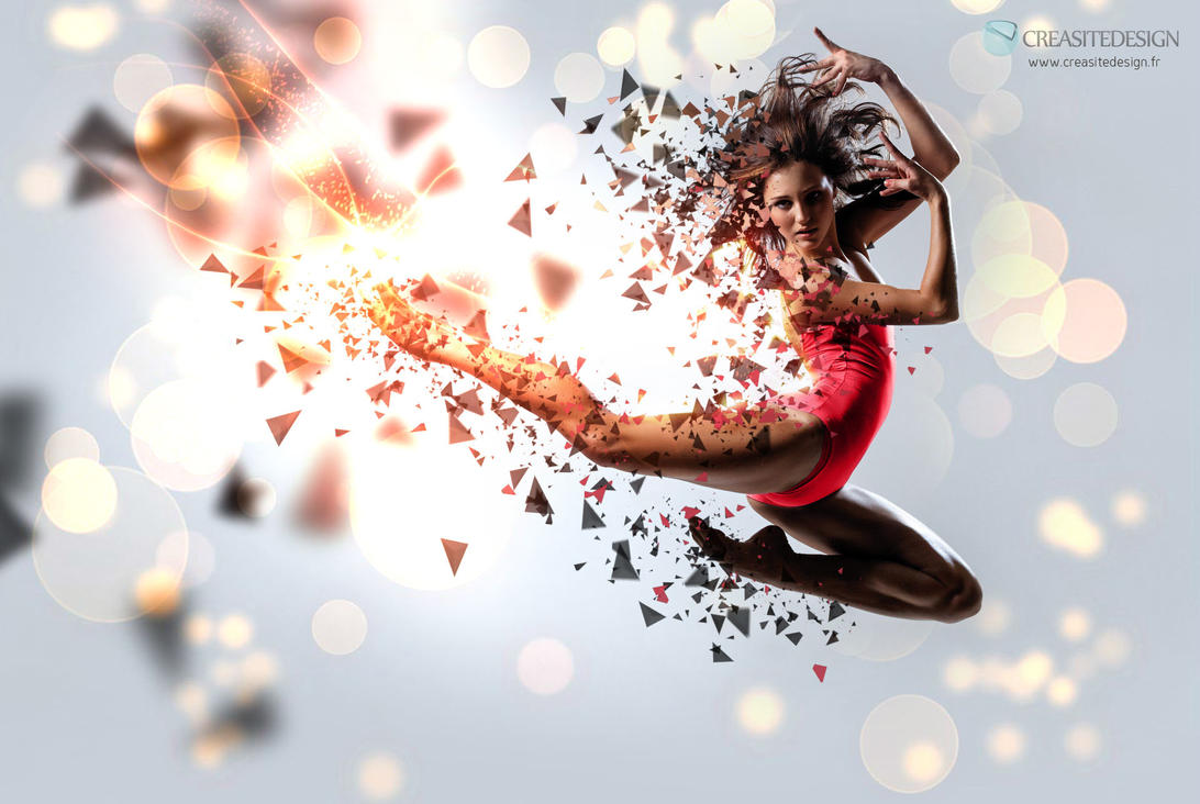 particles dancing girl by creasitedesign