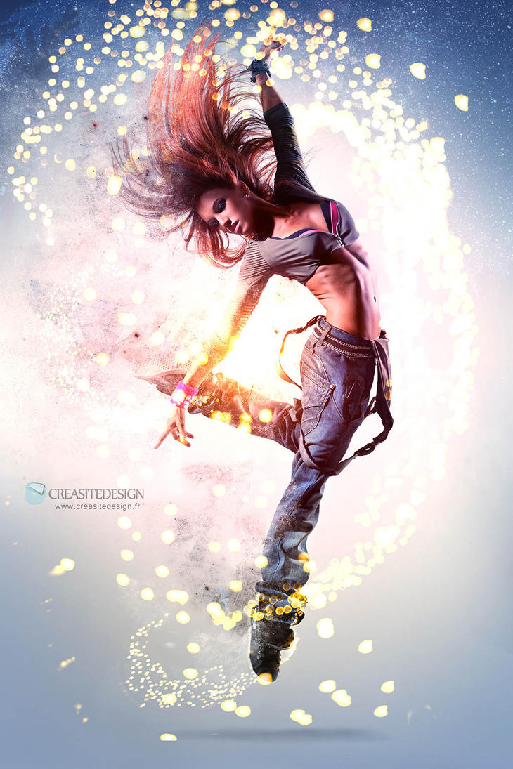 Dancing Particle Girl Small by creasitedesign