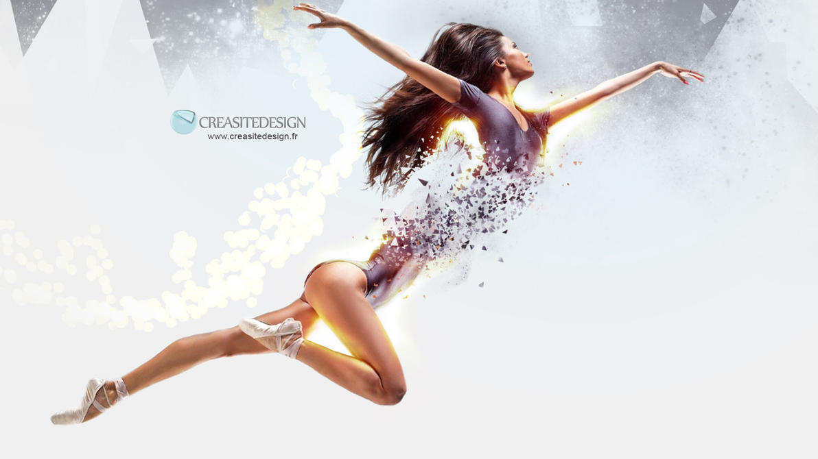 Particules Dancing Girl by creasitedesign