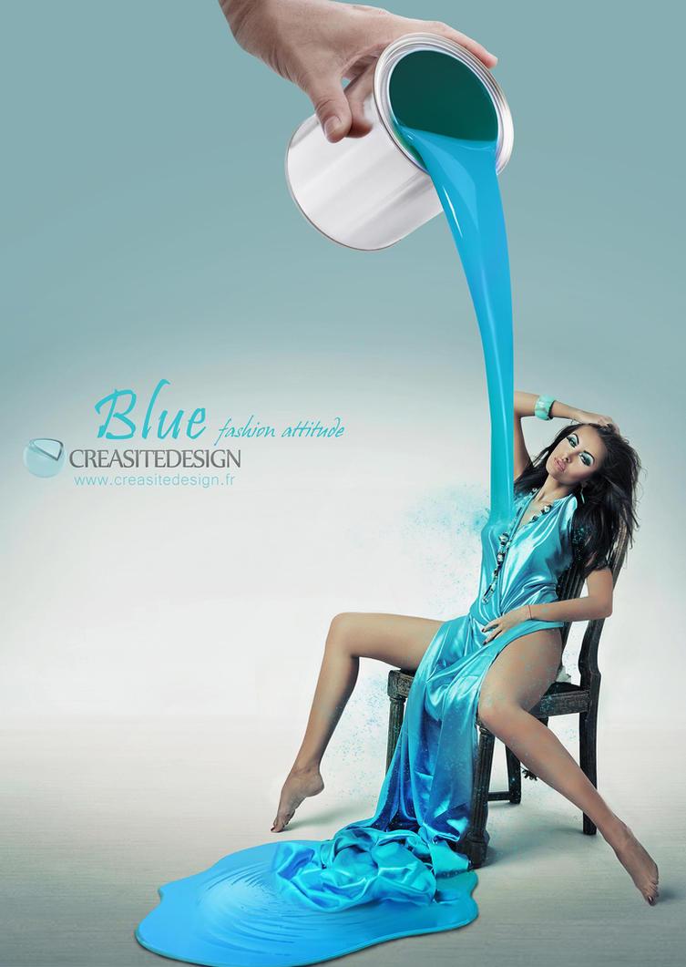 Blue Fashion Attitude Creasitedesign Small by creasitedesign