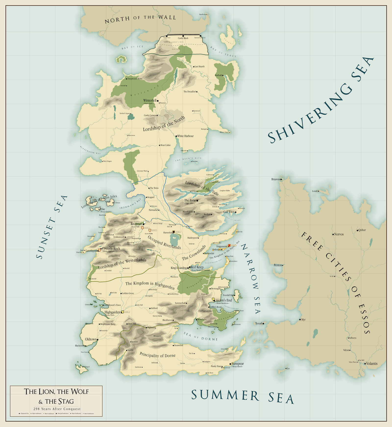 The Lion, the Wolf and the Stag [Late-298AC map] by Maonsie