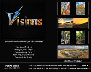 Visions:7 years of landscape photography in 1 book by V-Light