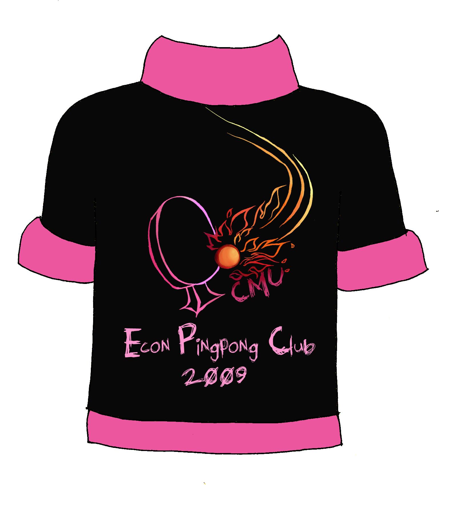 Design t shirt back -  Pingpong Club T Shirt Back By A L A R I C
