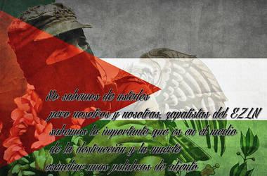Sub Marcos for Palestine by Quadraro
