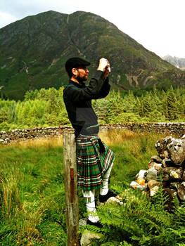 Tourist in Glencoe