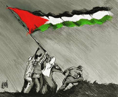 Raising the flag of resistance by Quadraro