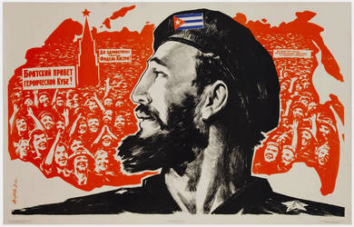 Glory to comrade Fidel Castro! by Quadraro