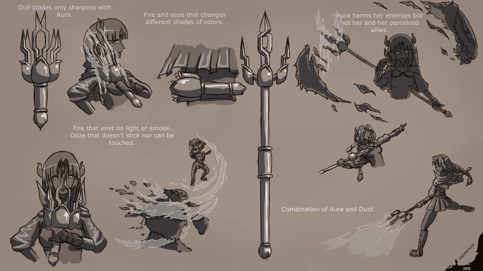 rwby oc v weapon concept art by leafymechypen on deviantart