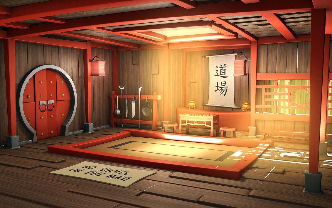 Cartoon Kung Fu Hall -Angled by Hayden-Zammit
