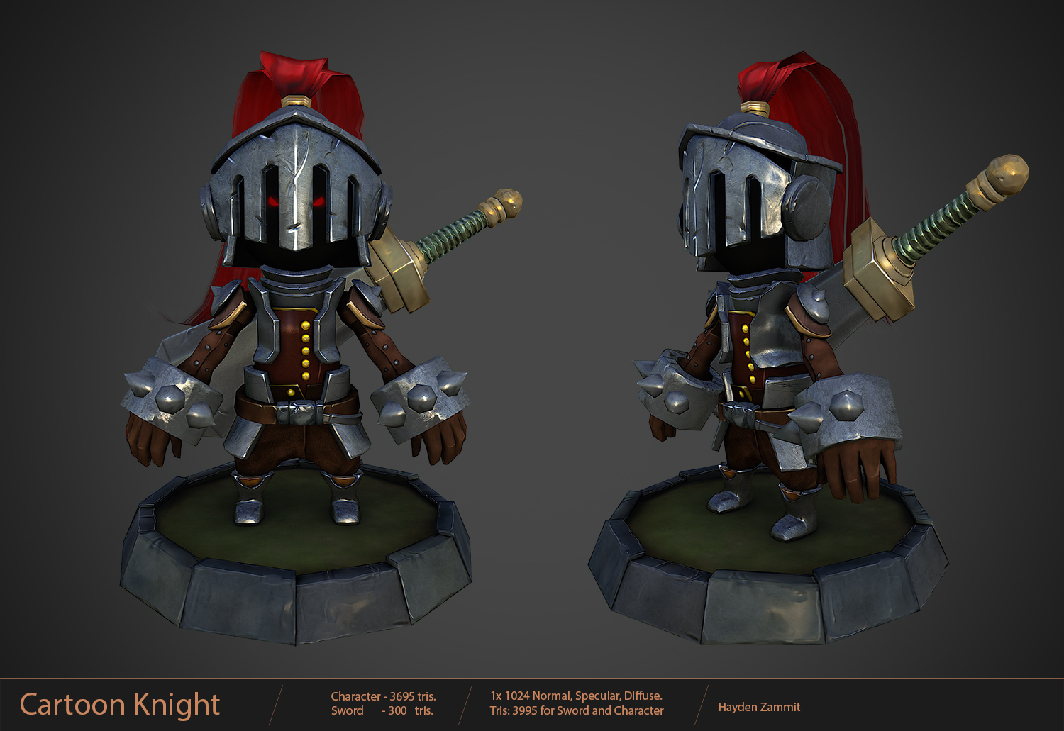 Cartoon Knight by Hayden-Zammit