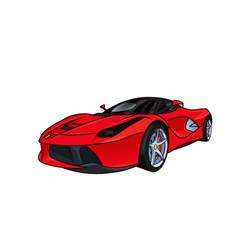Ferrari Laferrari cartoonish