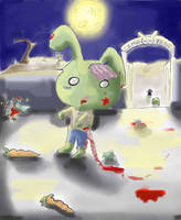 Zombie Bunny by Alleby