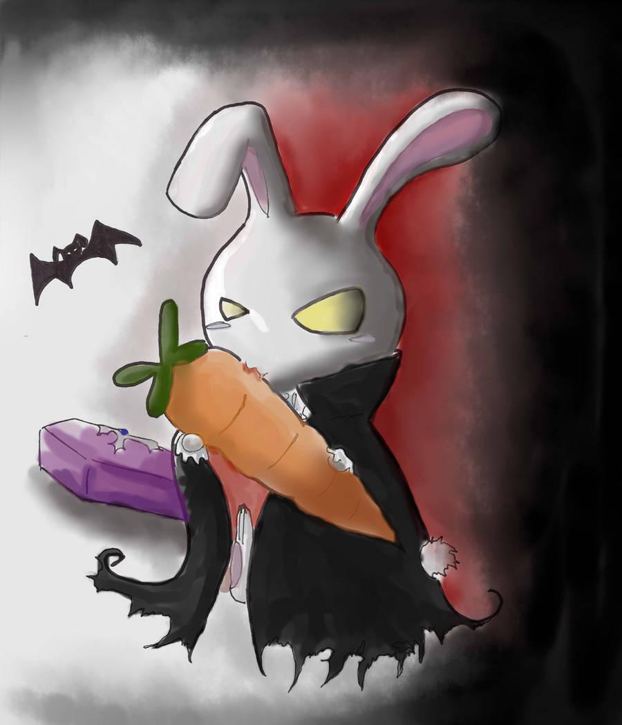 Vampire Bunny by Alleby