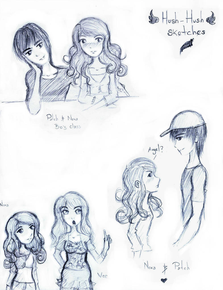 Hush Hush sketches by Alleby