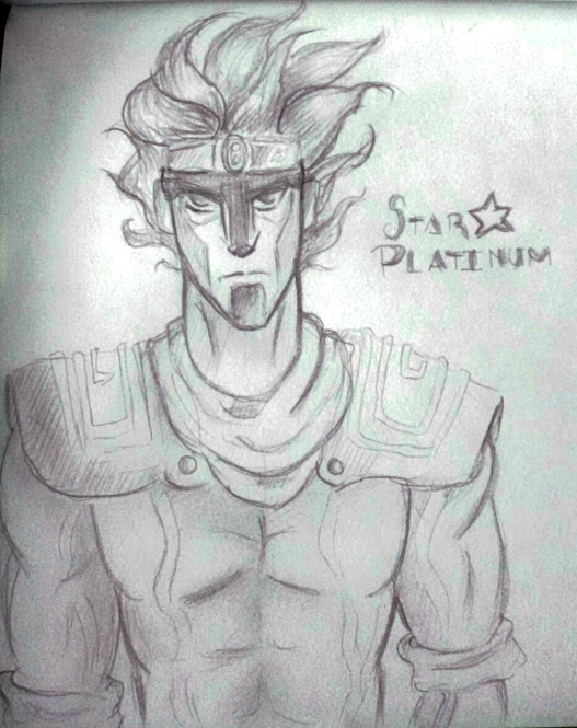 Star Platinum sketch by Alleby