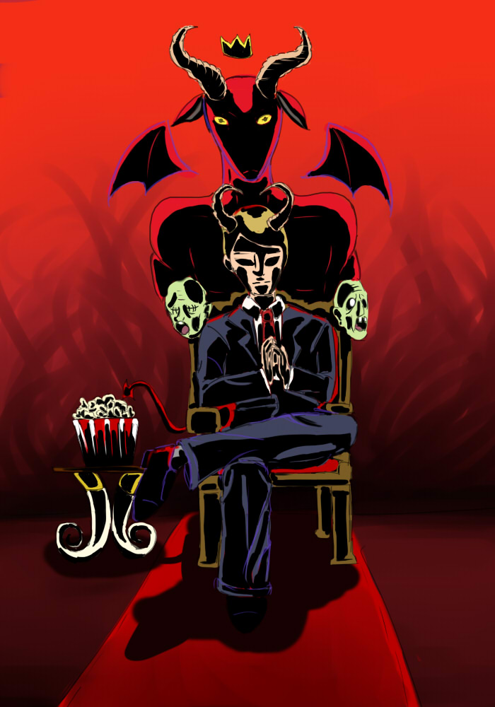 The Devil- Drawloween 2015 by Alleby
