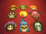 Perler Beads One Piece Crew Coasters
