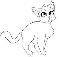 Curious (Free Lineart + MSPaint Friendly) by Griftiel