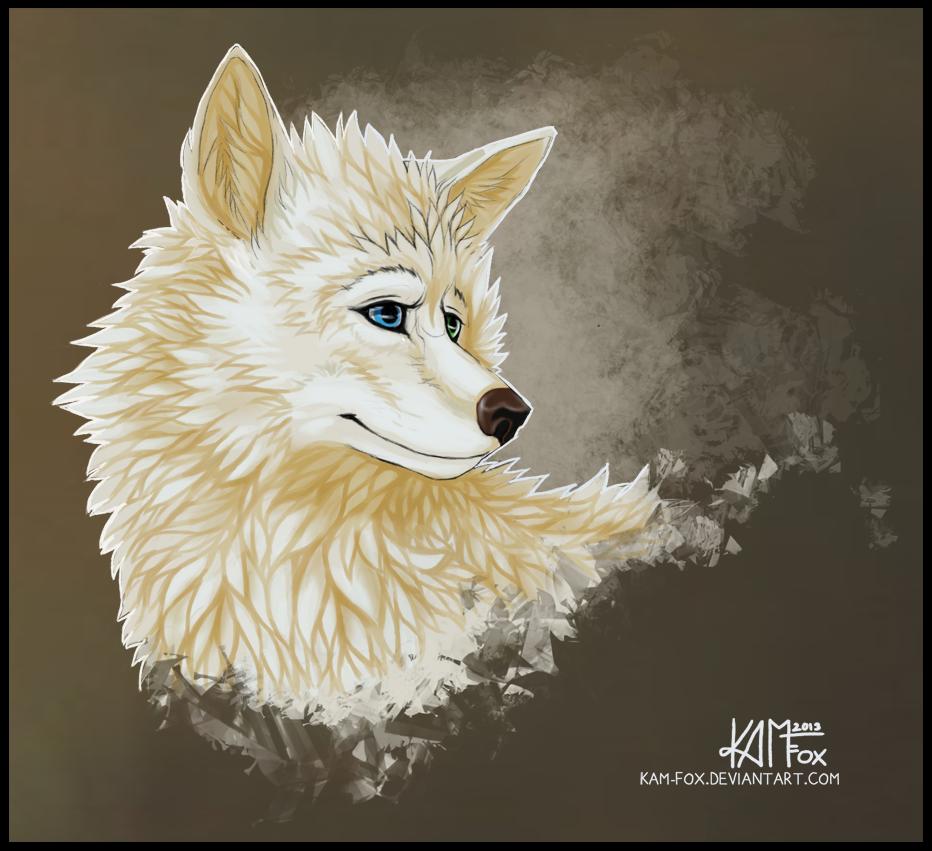White fox art - photo#18