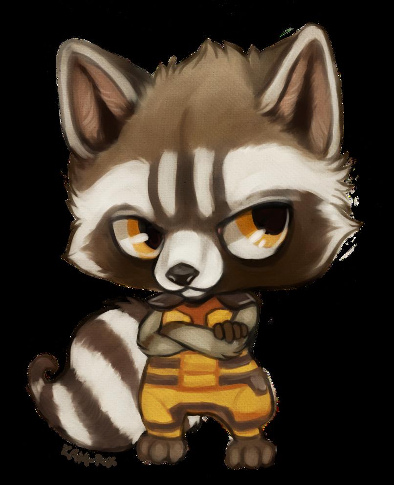 Star Lord And Rocket Raccoon By Timothygreenii On Deviantart: Chibi Rocket By Kam-Fox On DeviantArt