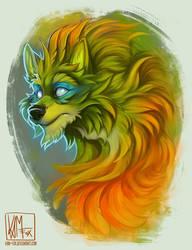 Redraw - Green Hound by Kam-Fox