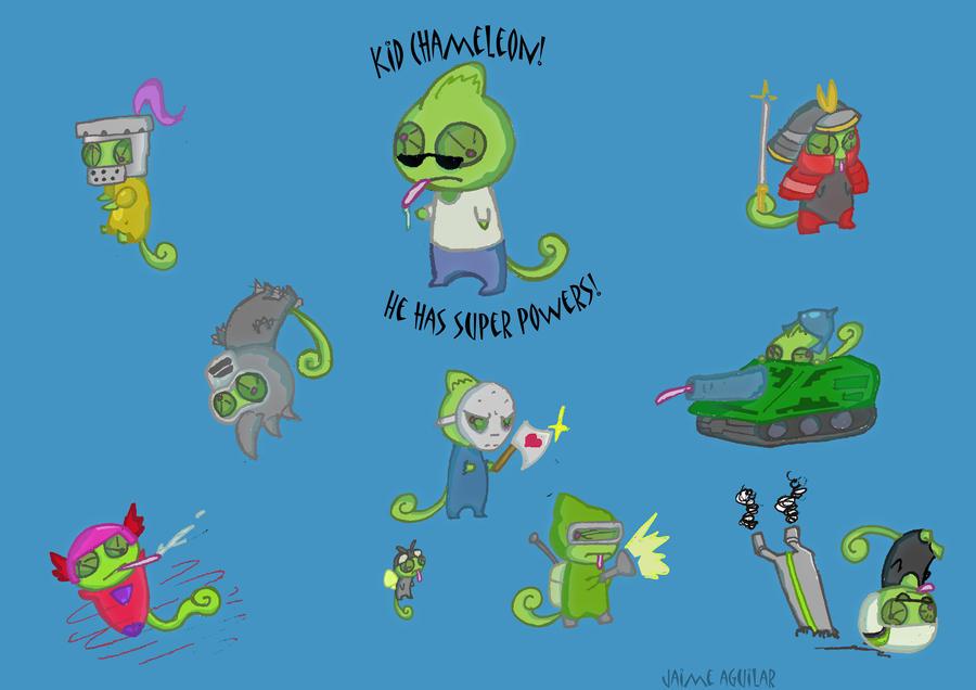 Kid Chameleon Art