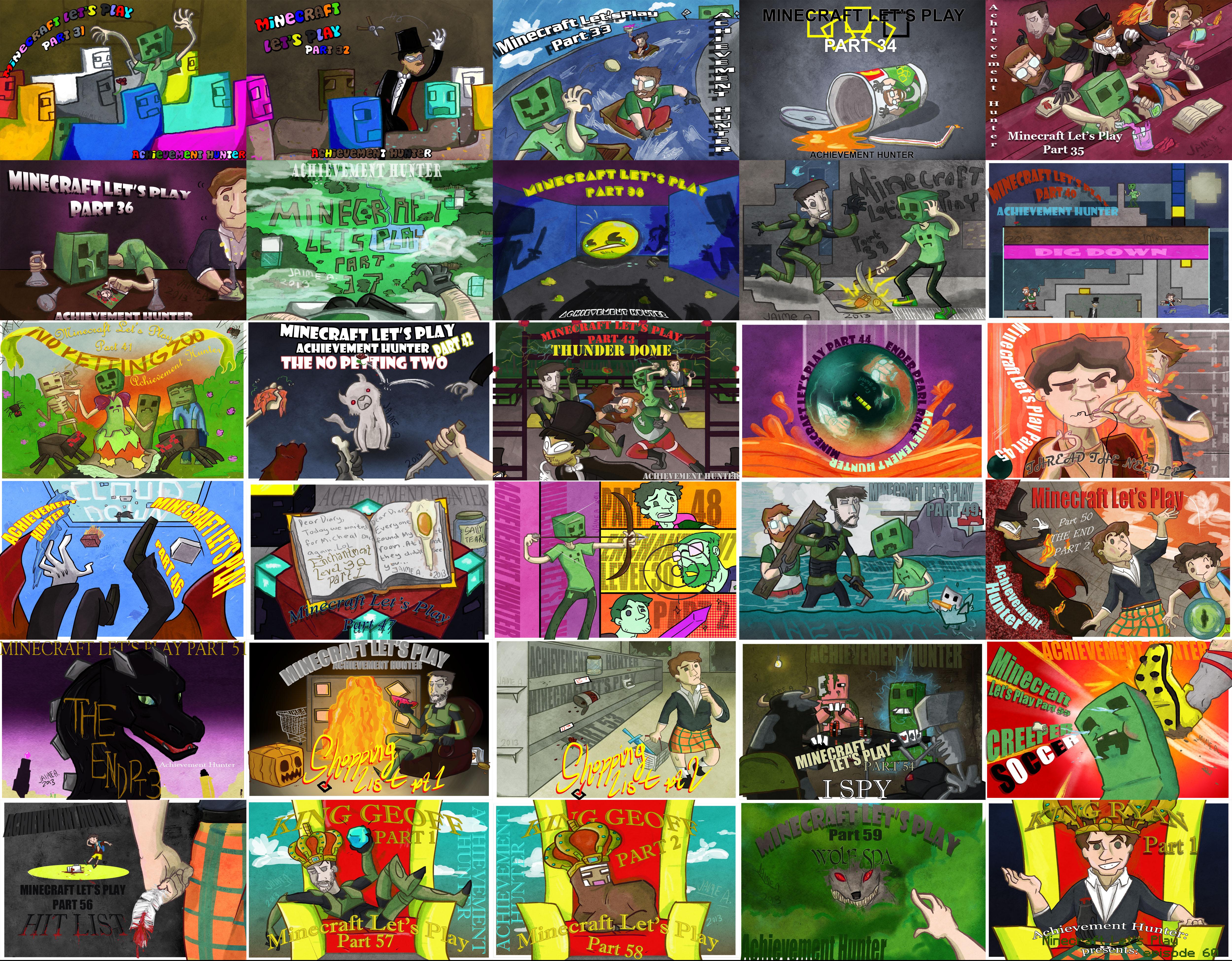 Achievement Hunter Minecraft Poster 31-60 by guavajagular ... Achievement Hunter Comic Poster