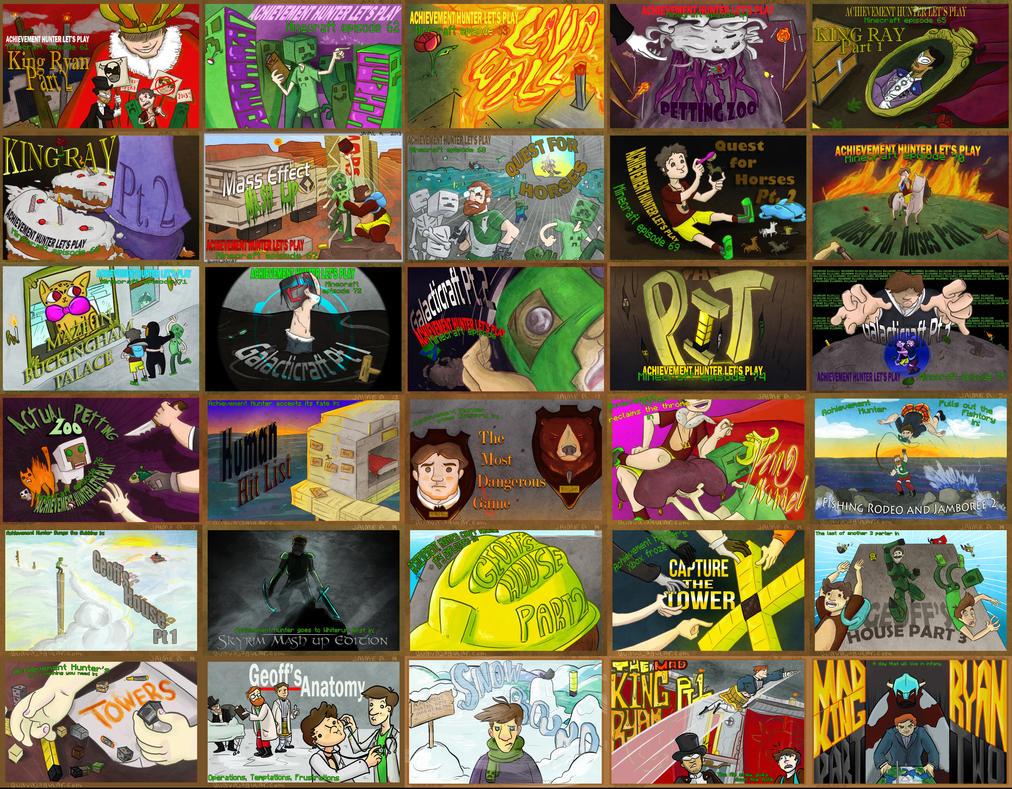 Achievement Hunter Minecraft Poster 3 by guavajagular on ... Achievement Hunter Comic Poster