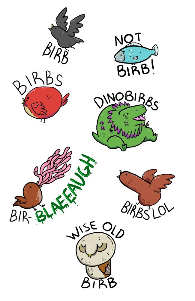 birbs by guavajagular