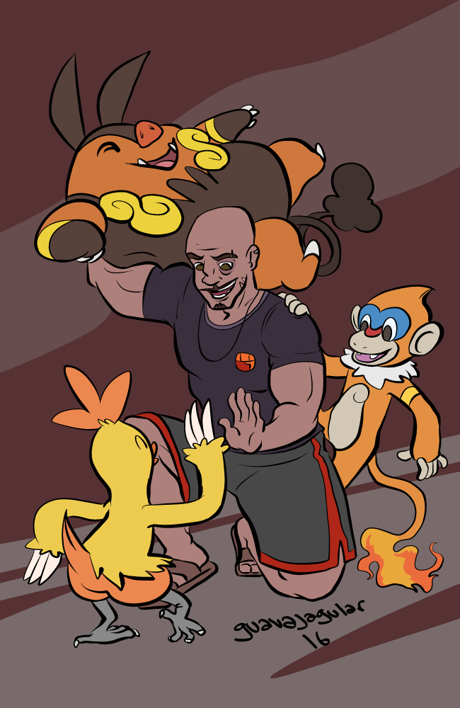 Troy Fire Gym Leader by guavajagular