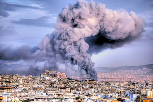 Fire in Athens