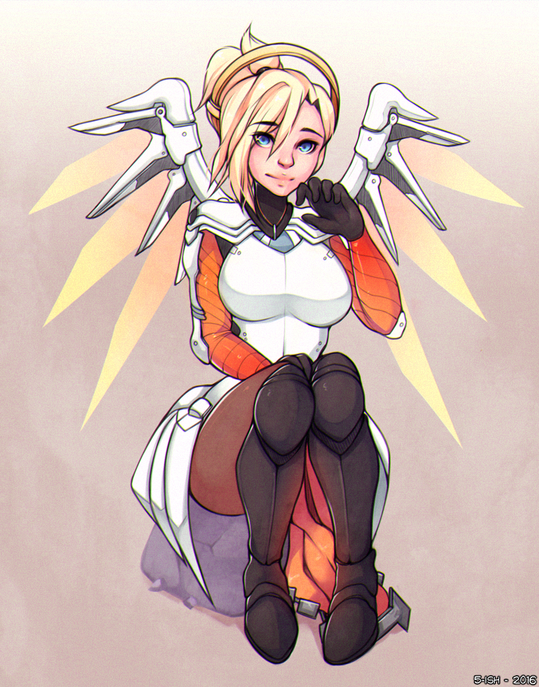 Overwatch: Mercy by 5-...