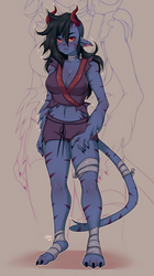 Commission: Katrina the Feral Tiefling