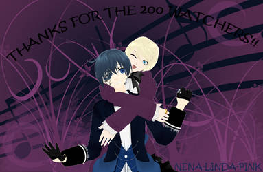(MMD) .:Special 200 watchers:. Alois and Ciel