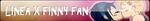 Linea x Finny Fan Button by nena-linda-pink